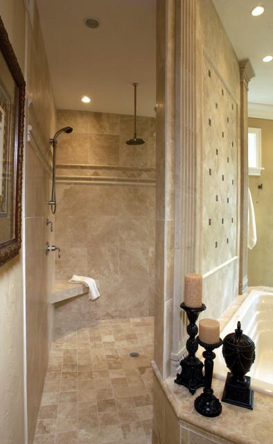 Walk-Through Shower - Traditional - Bathroom - by Michael F Simon ...