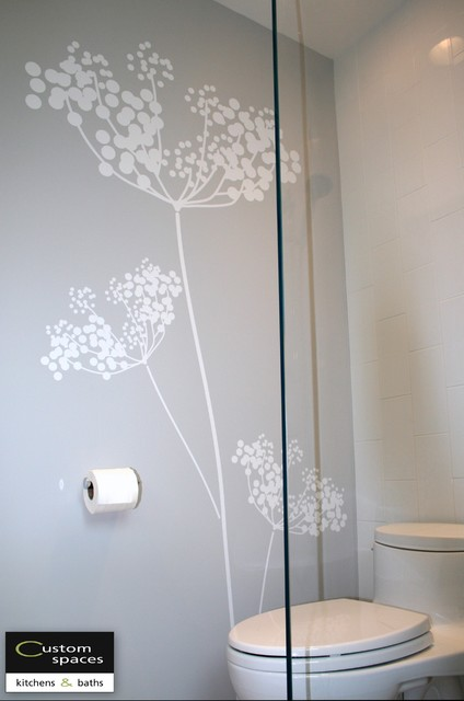 Wall decal Modern Bathroom San Francisco by Custom Spaces Design