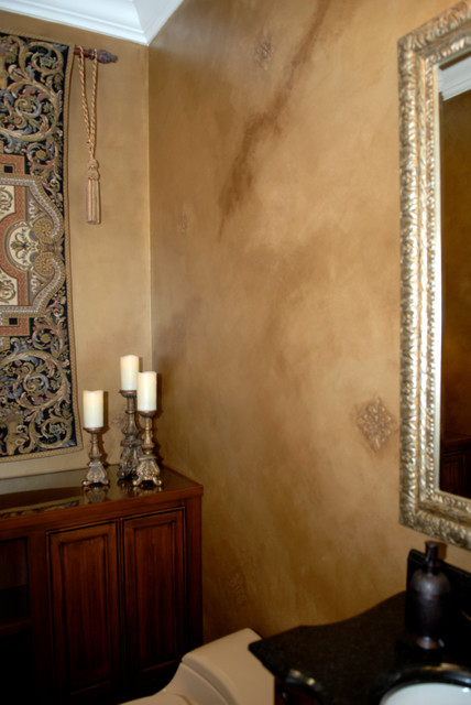 Wall faux finishes traditional bathroom san for Faux wall painting