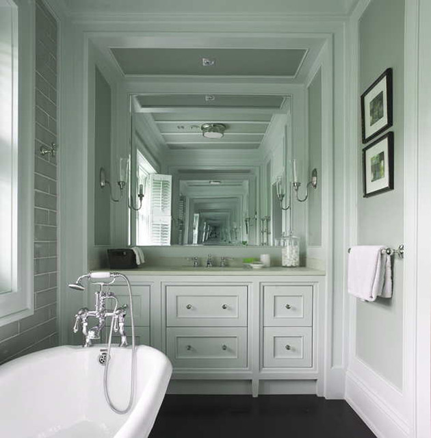 Delicieux Wall Morris Design | New England Style House | Ireland Traditional Bathroom