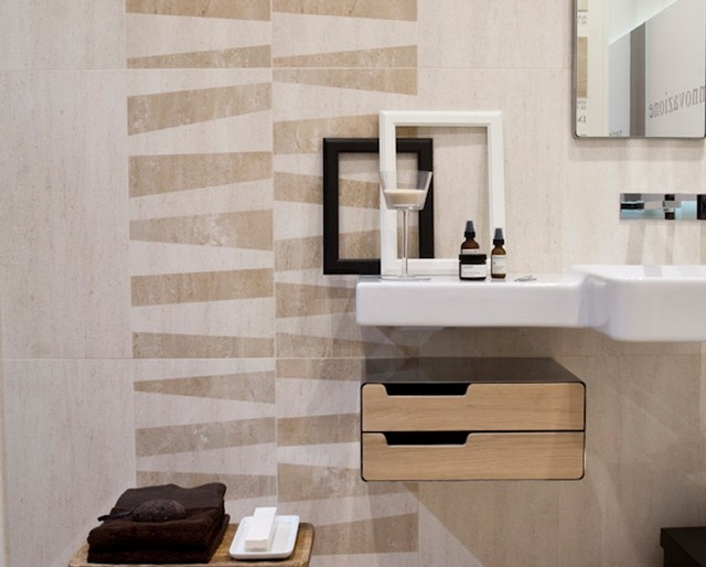 Wall tile modern bathroom other metro by horizon for Contemporary bathroom tiles