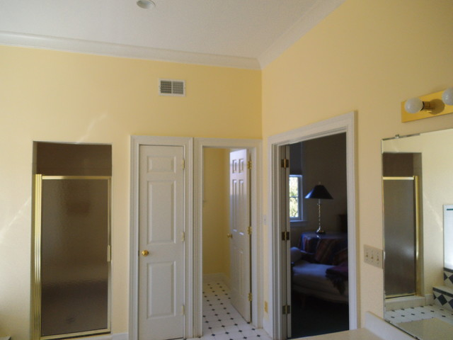 Wallpaper removal , wall repair, and repaint - Traditional - Bathroom - louisville - by L. A ...