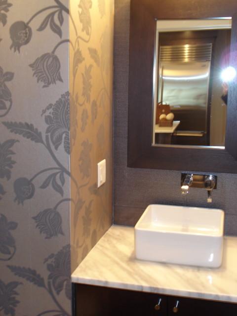 Wallpapered Half Bathroom