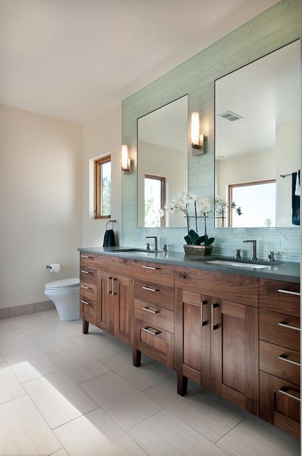 Walnut Bathroom Vanity transitional-bathroom