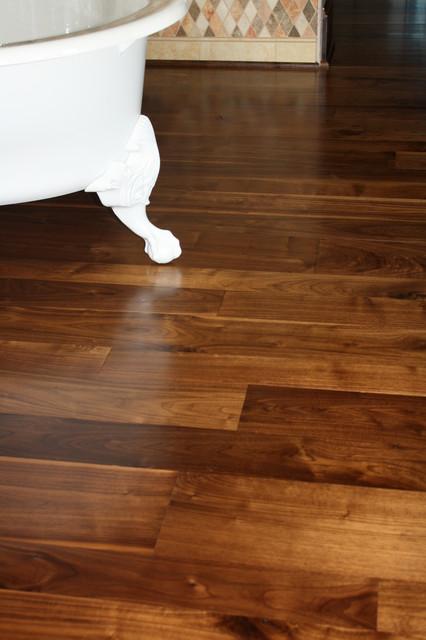 Walnut Flooring eclectic-bathroom
