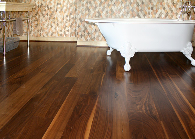 Walnut flooring eclectic bathroom other metro by for Walnut flooring