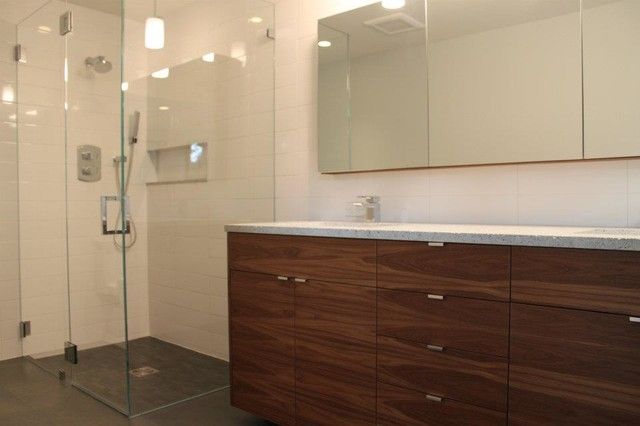 Walnut ikea bathroom contemporary bathroom other metro by semihandmade - Ikea bathrooms images ...