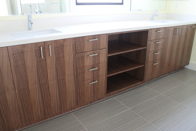 Walnut IKEA Bathroom Contemporary Bathroom