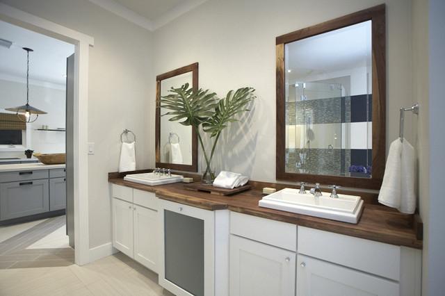 Walnut Vanity Top contemporary-bathroom