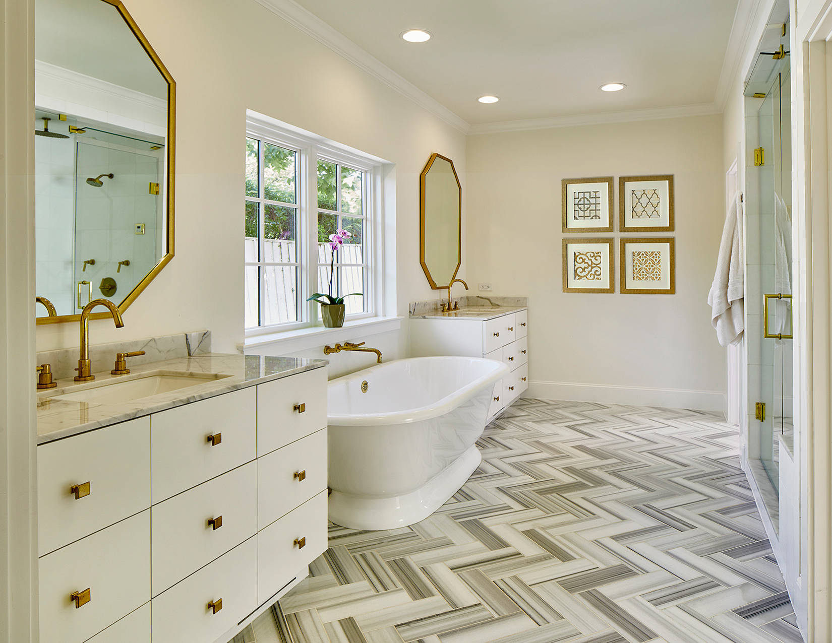 75 Beautiful Beige Marble Tile Bathroom Pictures Ideas December 2020 Houzz