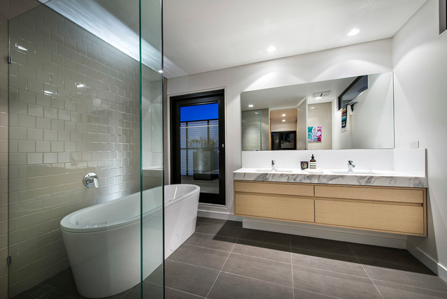 Warden st residence contemporary bathroom perth by mata design studio Bathroom design perth uk