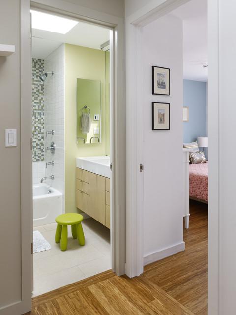 Warehouse Conversion contemporary-bathroom