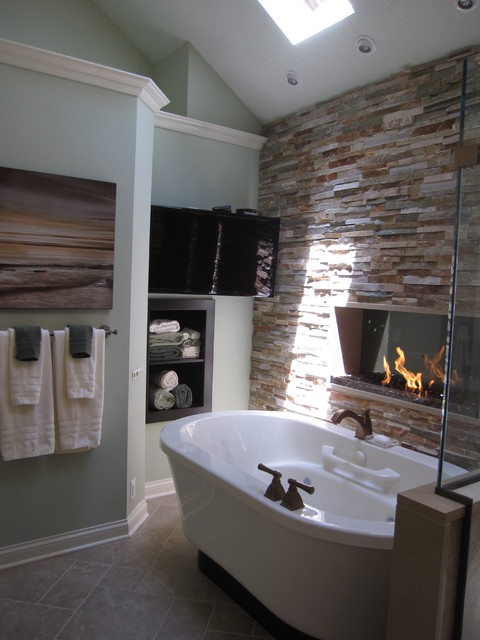 Warm amp Cozy Master Bathroom Traditional