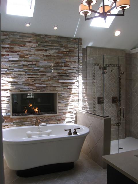 Master bathroom decorating ideas - Warm Amp Cozy Master Bathroom Traditional Bathroom Indianapolis