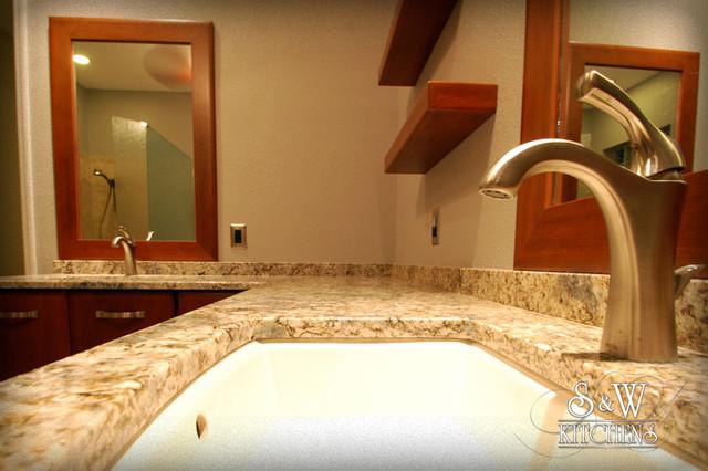 Warm & Updated Master Bath modern-bathroom