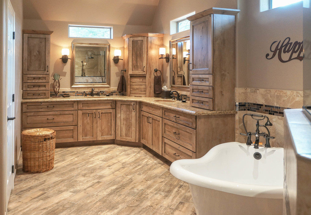 Warm And Welcoming Country Style Master Bathroom Rustic Bathroom Phoenix By Premier Kitchen Bath