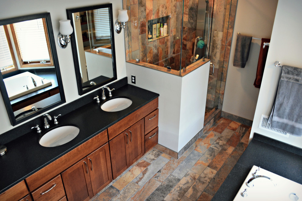 Large transitional bathroom photo in Minneapolis