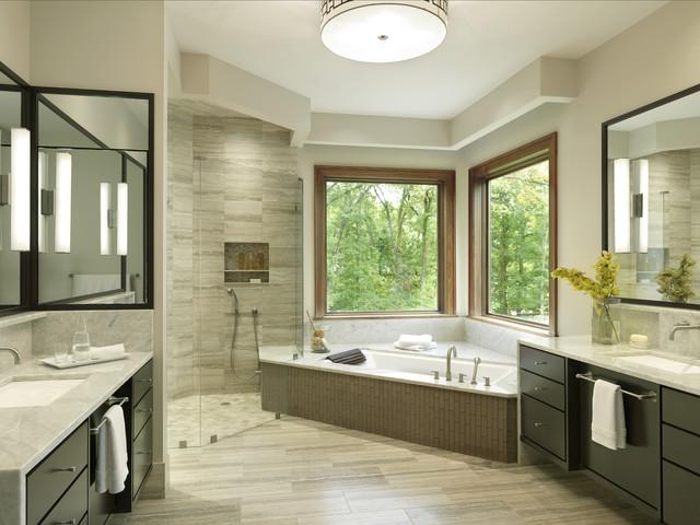 warm contemporary bath   transitional   bathroom   st