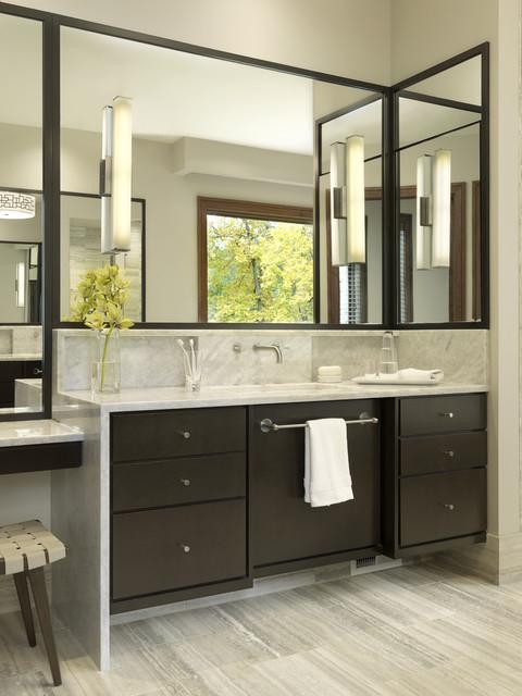 Warm Contemporary Bath Contemporary Bathroom St