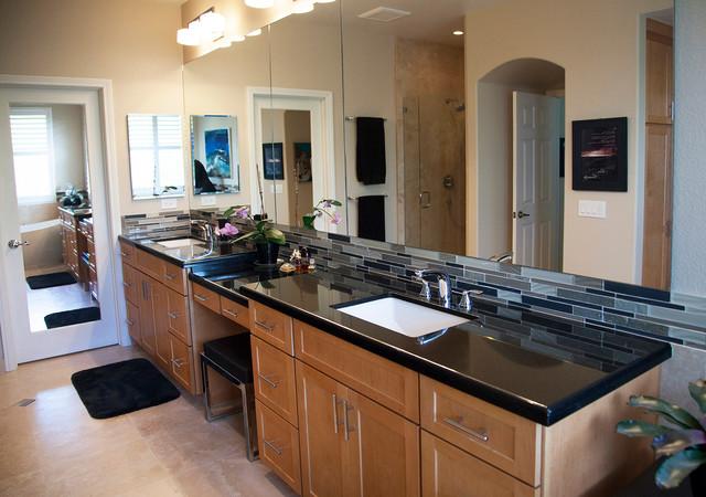 Warm Modern Bathroom Design : Warm contemporary master bath bathroom