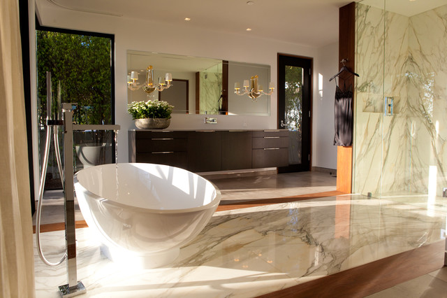 Warm Contemporary Master Bath Bathroom