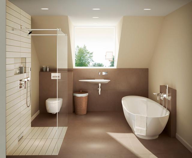 Warm geberit master bath modern bathroom other metro for Warm bathroom designs