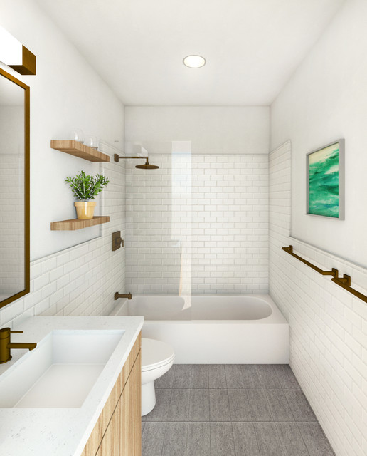 Warm Modern Home - Modern - Bathroom - New York - by ANDA ...