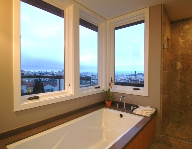 Warm Modern In Noe Valley Bathroom Modern Bathroom