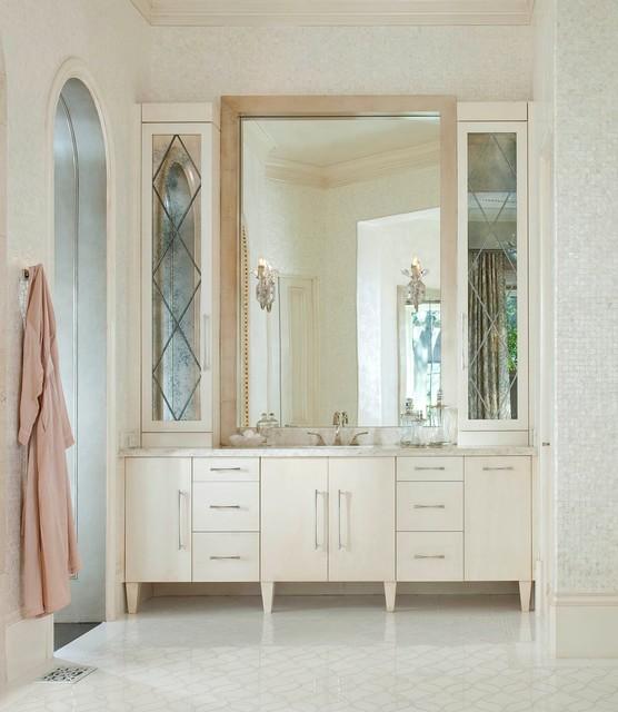 Warm Modern Bathroom Design : Warm modern meets mediterranean transitional bathroom