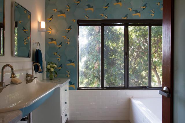 Warm Modern Bathroom Design : Warm modern silver lake hills house contemporary
