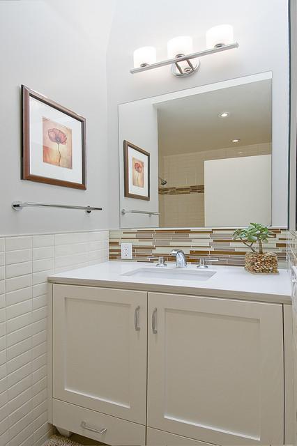 Warren drive 2 contemporary bathroom san francisco - Contemporary half bathroom ideas ...