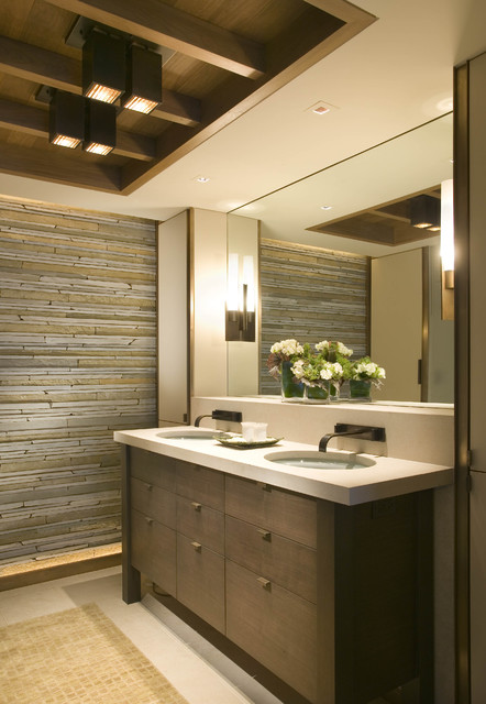 Washington Park Tower Condo modern bathroom