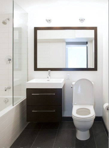 Washroom contemporary bathroom toronto by melissa for Washroom interior design