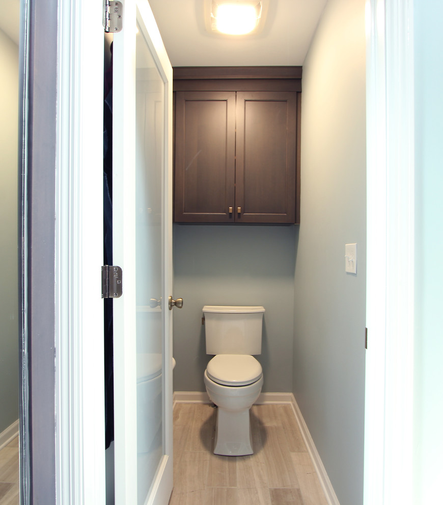 Water Closet With Grey Stained Maple Toilet Topper Transitional Bathroom Other By Denise Quade Design