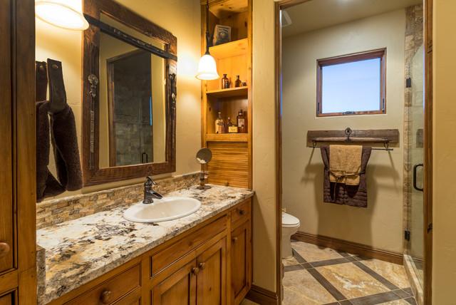 En Suite Bathrooms Rustic: Water Tower Inspired Home Guest Suite