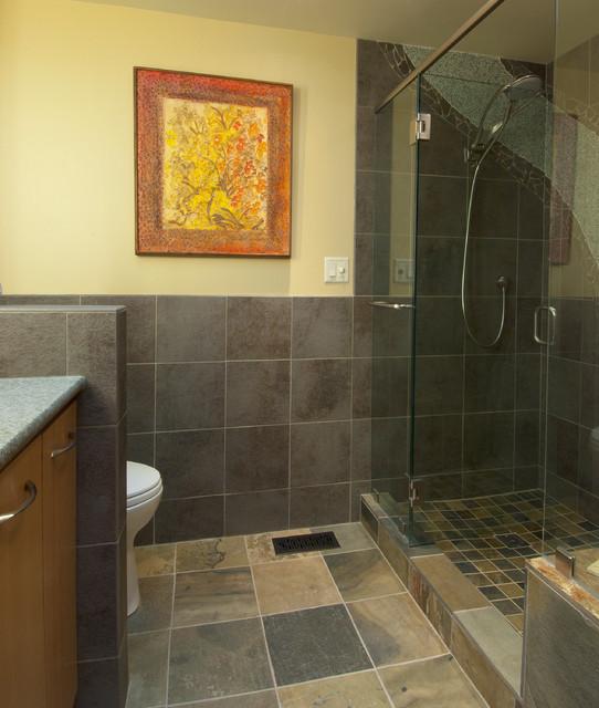 Waterfall Shower Bathroom contemporary-bathroom