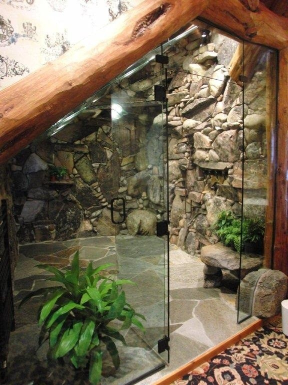 Inspiration for a tropical bathroom remodel in Tampa