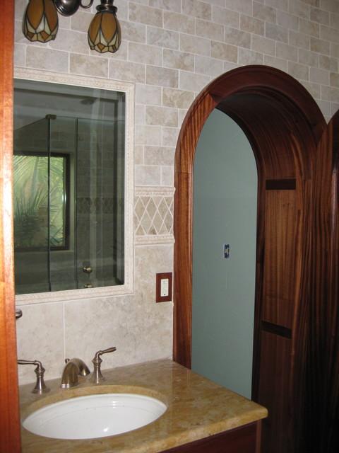 Bathroom - mediterranean bathroom idea in Tampa