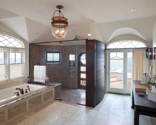 Waterfront Retreat contemporary bathroom