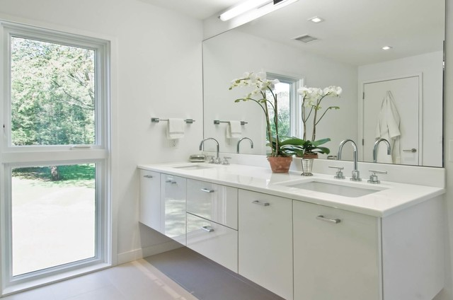 White Bathrooms With Clean And Clic