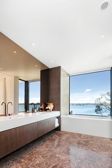 Waterside Wonder contemporary-bathroom