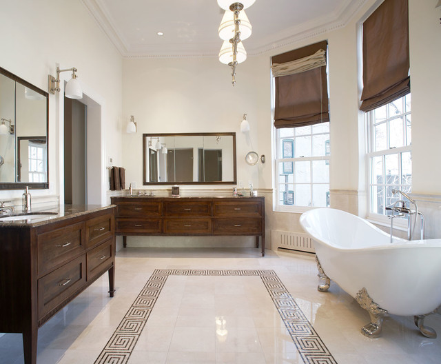 Beau Waverly Place Townhouse Traditional Bathroom