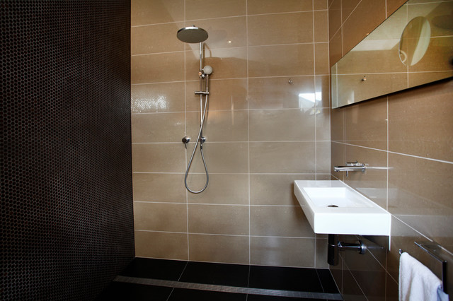 Wet room contemporary bathroom adelaide by koush design for Bathroom designs adelaide