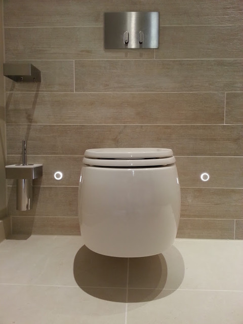 Wc lighting contemporary bathroom london by future - Decoration toilette zen ...
