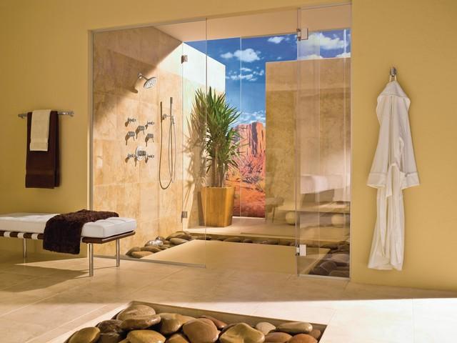 Weinstein bath spaces tropical bathroom philadelphia for Weinstein kitchen and bath