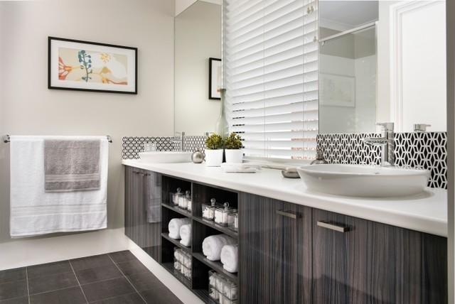 Wellard display home perth contemporary bathroom for Interior design agency perth
