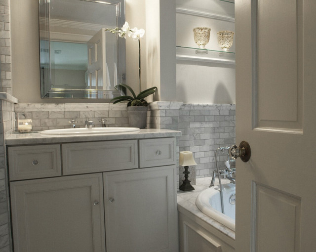 Wellesly Residence traditional-bathroom