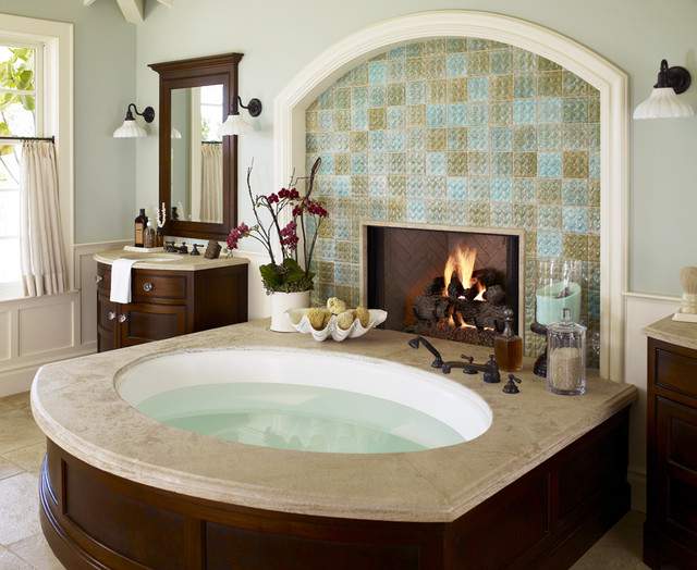 Wendi Young Design tropical-bathroom