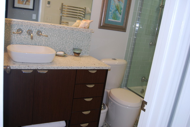 Wenge Wood Vanity Spa Bathroom contemporary-bathroom