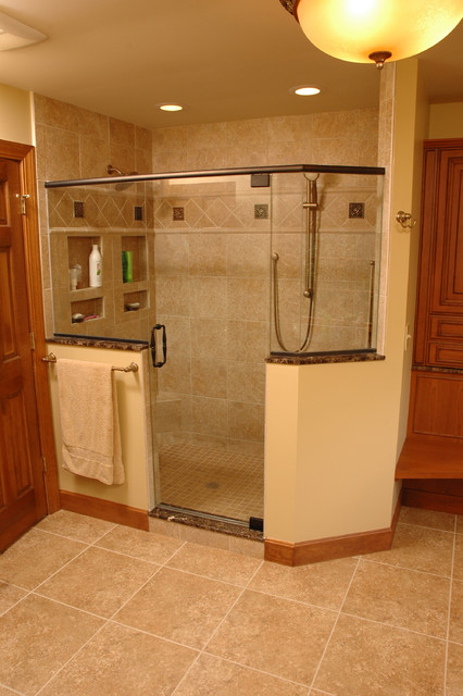 West chester master bathroom without tub traditional for Bathroom designs without tub
